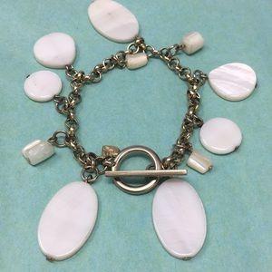 American Eagle bracelet mother of pearl dangles